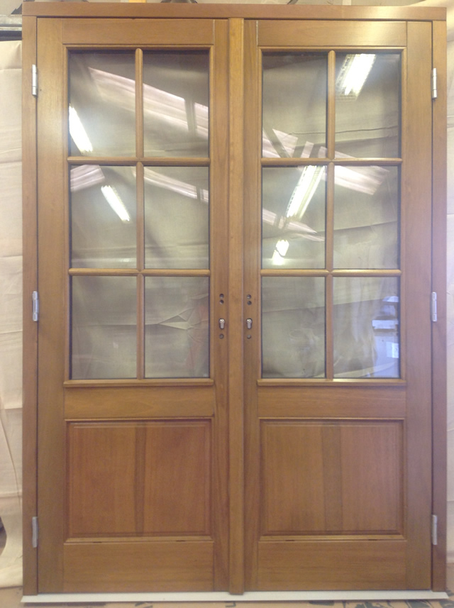 Door supplier pvcu timber and alu clad doors by bairds for Outward opening french doors