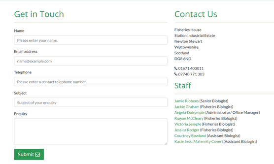 The 'Contact Us' form has been fixed.