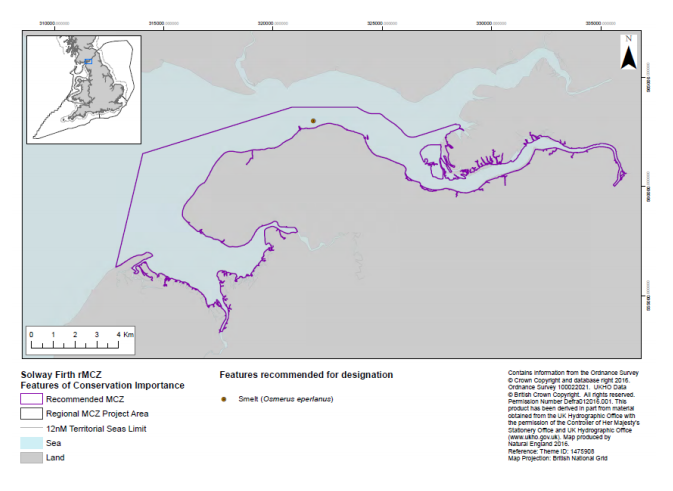 This map outlines the boundaries of the Inner Solway Firth MCZ.