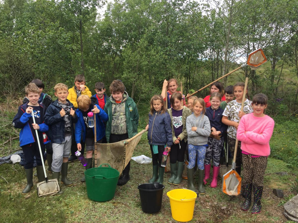 The pupils of Kells Primary School excited to start exploring the river!